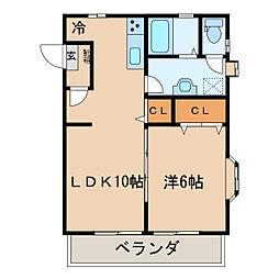 マイキャッスルパートIII[1階]の間取り