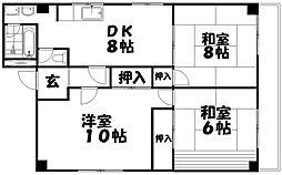 第2森本コーポ[2階]の間取り