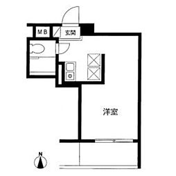シェモア武蔵[5階]の間取り