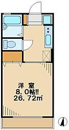 東京都日野市程久保6丁目の賃貸アパートの間取り