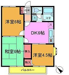 千葉県市川市北方町4の賃貸アパートの間取り