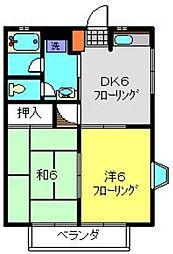 NAK−Ⅲ[203号室]の間取り