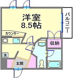 CAROL横濱[2階]の間取り