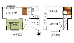 [一戸建] 神奈川県茅ヶ崎市円蔵 の賃貸【/】の間取り