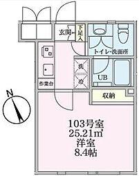 JR南武線 矢向駅 徒歩2分の賃貸マンション 1階1Kの間取り