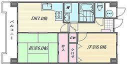 ロフティ箱崎[3階]の間取り
