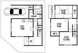船橋本町2丁目貸家 2階3DKの間取り