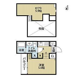 ユイットSOGA(ユイットソガ)[2階]の間取り