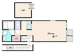プリエール板宿[2階]の間取り