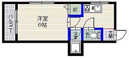 プレジデント地行A[1階]の間取り