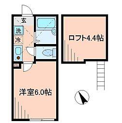 マイフィールズ横浜[1階]の間取り