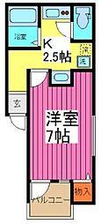 東武野田線 豊春駅 徒歩9分の賃貸アパート 1階1Kの間取り