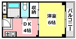 JR東海道・山陽本線 JR総持寺駅 3.2kmの賃貸マンション 2階1DKの間取り
