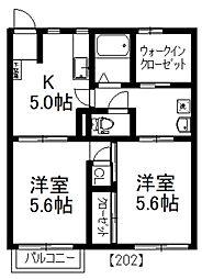 MAST メゾン藤倉[202号室]の間取り