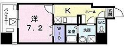 東京メトロ東西線 葛西駅 徒歩17分の賃貸マンション 4階1Kの間取り