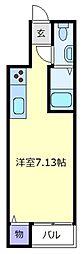ラ・コート天美東B棟[4階]の間取り