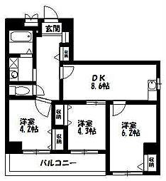 のぼるビル[5階]の間取り