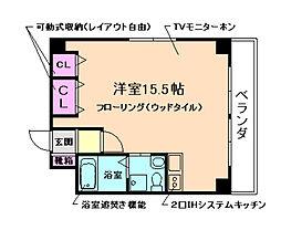 大阪府豊中市庄内栄町2丁目の賃貸マンションの間取り