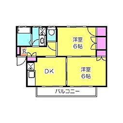 タウンハウスB[202号室]の間取り