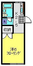 ドミール池田[1階]の間取り