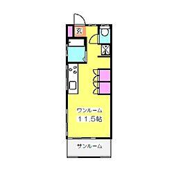 日吉本町2丁目テラス1F[1階]の間取り