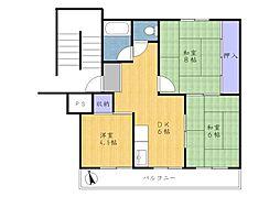 有馬南住宅2号棟[5階]の間取り