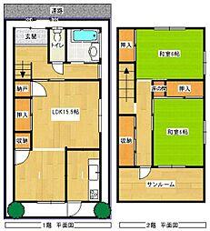 [一戸建] 福岡県福岡市中央区白金1丁目 の賃貸【/】の間取り