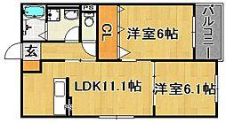 (仮)多々良IIアパート[301号室]の間取り