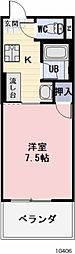 愛知県豊川市市田町の賃貸アパートの間取り