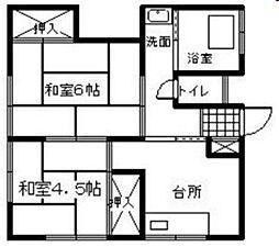 青葉荘[10号室]の間取り