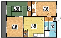 サンヒルズ吉田[1階]の間取り