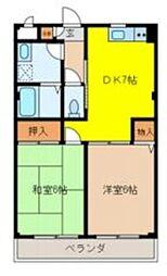 埼玉県八潮市中央2丁目の賃貸マンションの間取り