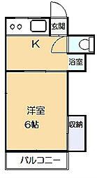 第二吉野荘[102号室]の間取り