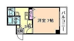 スタシオン梅田イースト[6階]の間取り