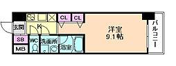Osaka Metro御堂筋線 淀屋橋駅 徒歩5分の賃貸マンション 7階1Kの間取り