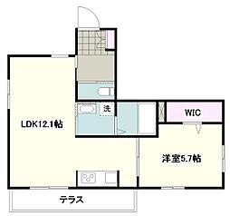 JR横浜線 町田駅 徒歩19分の賃貸マンション 1階1LDKの間取り