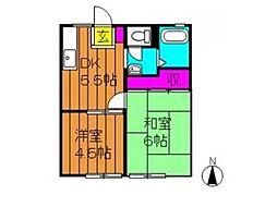 中庄サンプラザ A[1階]の間取り