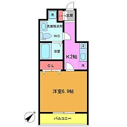 フォセット南行徳[3階]の間取り