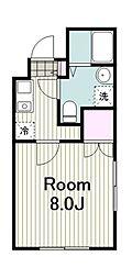 川崎区日進町新築マンション 5階1Kの間取り