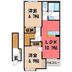 リバレイン[2階]の間取り
