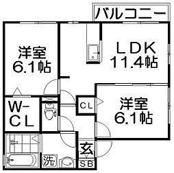 和・Familiar[2階]の間取り