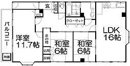 河野ビル[3階]の間取り