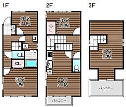 [一戸建] 東京都杉並区梅里2丁目 の賃貸【東京都 / 杉並区】の間取り