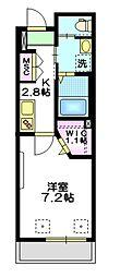 東京メトロ有楽町線 要町駅 徒歩3分の賃貸マンション 1階1Kの間取り