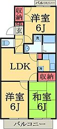 京成本線 志津駅 徒歩7分の賃貸マンション 3階3LDKの間取り