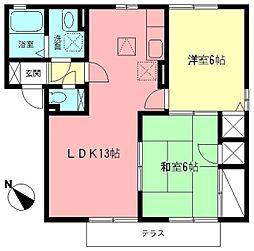 湘南サニーホームズB[1階]の間取り
