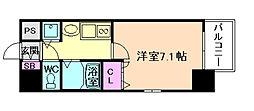 プレサンス梅田EAST[6階]の間取り