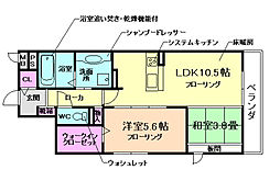 大阪府箕面市今宮3丁目の賃貸アパートの間取り