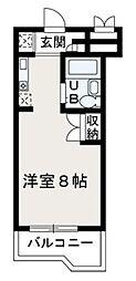 埼玉県朝霞市西弁財2丁目の賃貸マンションの間取り