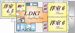 兵庫県神戸市垂水区泉が丘3丁目の賃貸マンションの間取り